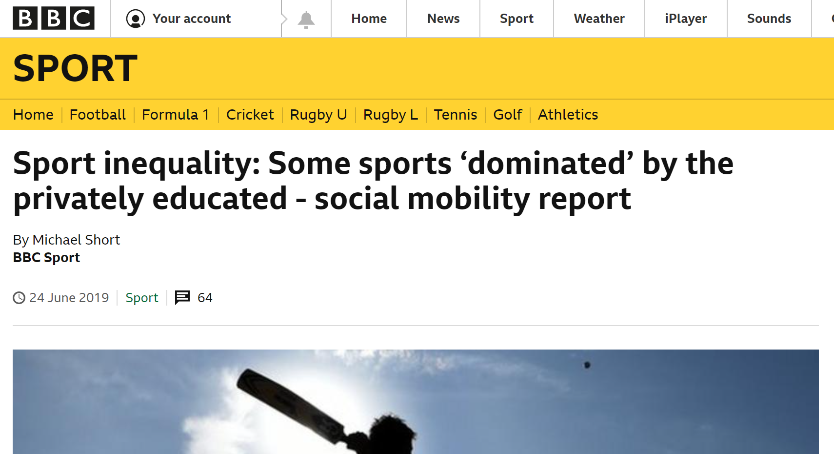 elitist britain coverage bbc sport